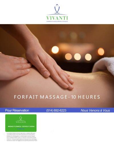 Forfait Massage 10 Heures Vivanti 2017